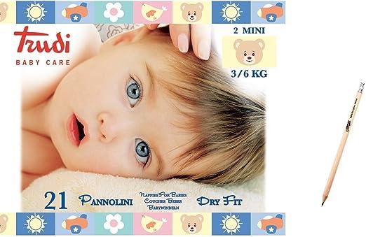 Trudi Baby Care Pannolini Dry Fit 3//6 kg Morbidi Per Bambini