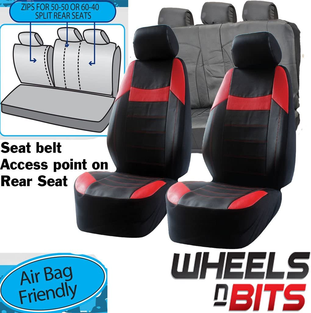 black//red full set CAR SEAT COVERS fit Vauxhall Astra