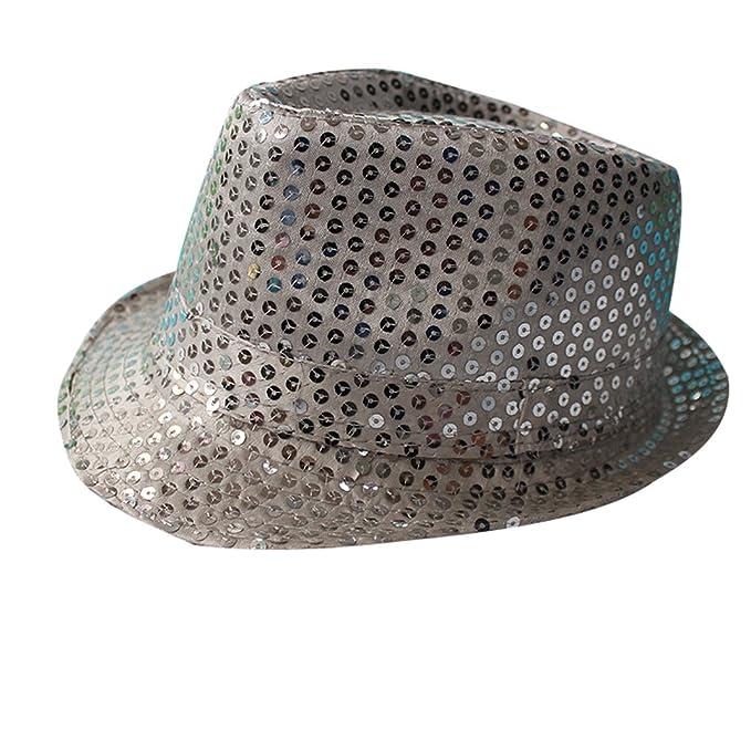 Zhiyuanan Cappello Da Ballo Per Adulti Jazz Hat Bambini Stage Dance  Paillettes Trilby Cappelli  Amazon.it  Abbigliamento 49b7df0871ca