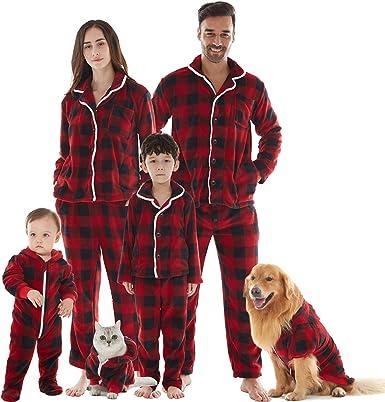 Pijamas familiares a juego de Navidad, pijamas de franela ...