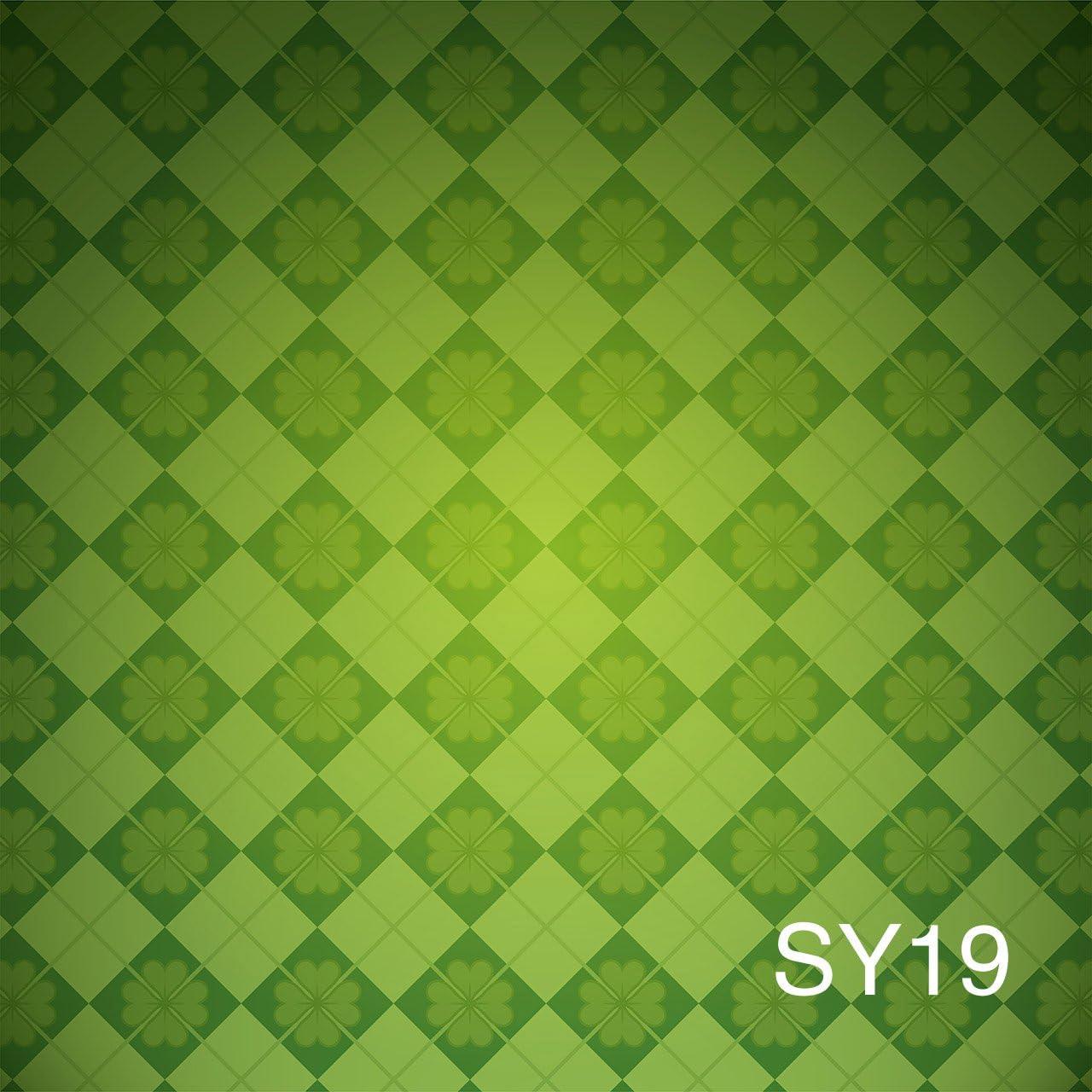 LB St.Patricks Day Backdrops for Photography 10x10ft Vinyl Green Shamrocks Background for Baby Kids Portraits Photo Backdrop Studio Props