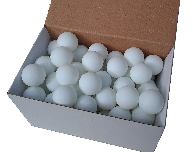 75 Tischtennisbälle 38mm ohne Aufdruck weiss stabiles Material