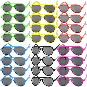 MEJOSER 24Pares Gafas de Sol Niños Plástico Fiesta Piscina ...
