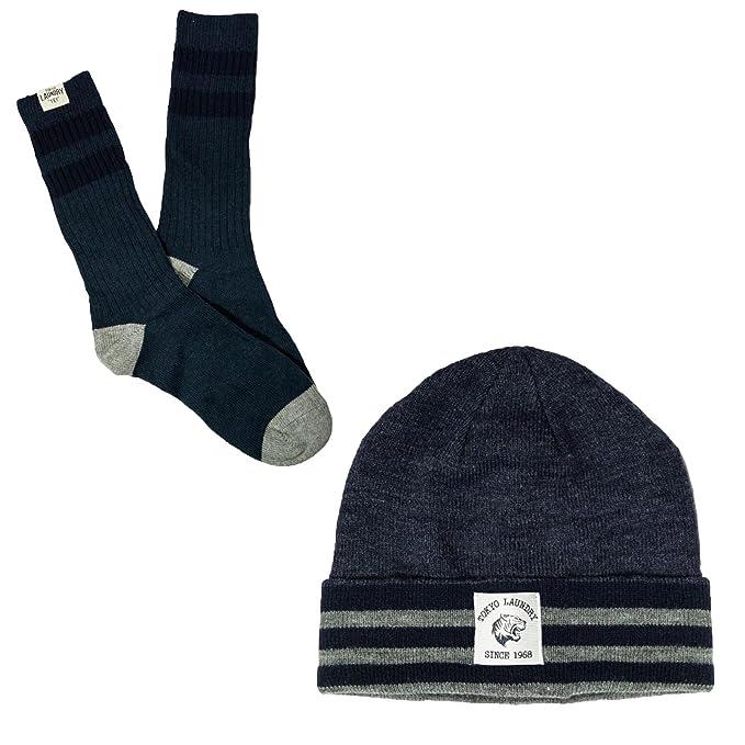 Tokio lavandería Mens Beanie sombrero y tobillo calcetines regalo caja de 2 piezas
