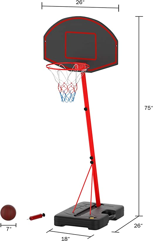 Yuelso 1 Pcs Basketball Hoop Goal Rim Mesh Net Backboard Rim Ball Sports Standard Nylon Thread Thick 5mm Red White Blue