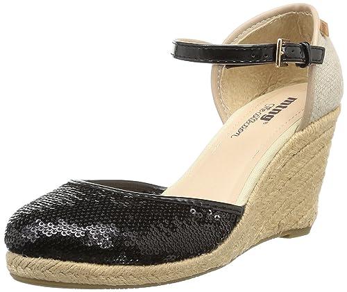 MTNG 52210 - Alpargatas con cuña para mujer, color beni negro, talla 35: Amazon.es: Zapatos y complementos