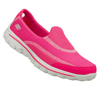 9abfcf60b9e6d Skechers Gowalk 2 13590 Hot Pink Slip-On Trainers for Women: Amazon.co.uk:  Shoes & Bags