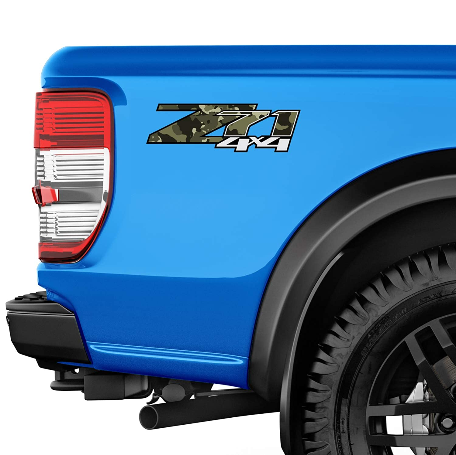 TiresFX Chevrolet Silverado Z71 4x4 Jungle CAMO 1500 2500 HD Stickers