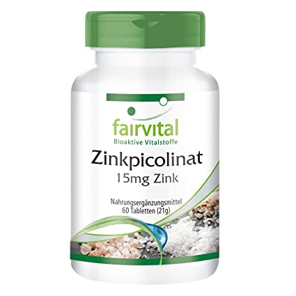 Picolinato de Zinc 15 mg - para 2 meses - VEGANO - Alta dosificación - 60