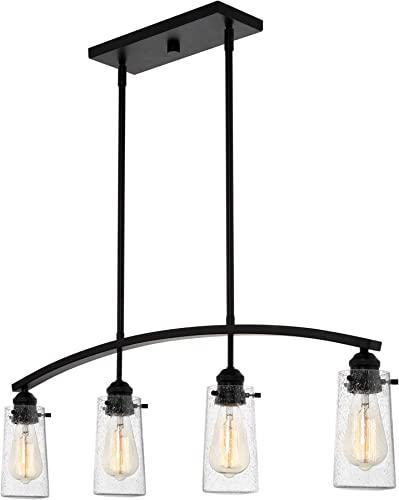 Kira Home Rayne 33″ 4-Light Modern Farmhouse Arched Island Light