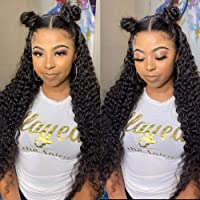 10A 26 Inch Brazilian Virgin Human Hair Wigs Water Wave Ear To Ear Lace Frontal Wig with Baby Hair 100% Unprocessed Remy Lace Front Wig Pre Plucked Natural Hairline Lace Wigs (26,13x4 water wave )
