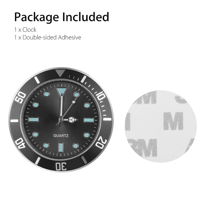 Locker Car Decoration 5 cm Diameter Mini Vehicle Dashboard Clock for Cars SUV Car Clocks for Dash EEEKit Car Dashboard Clock Cars Office Black Workbench