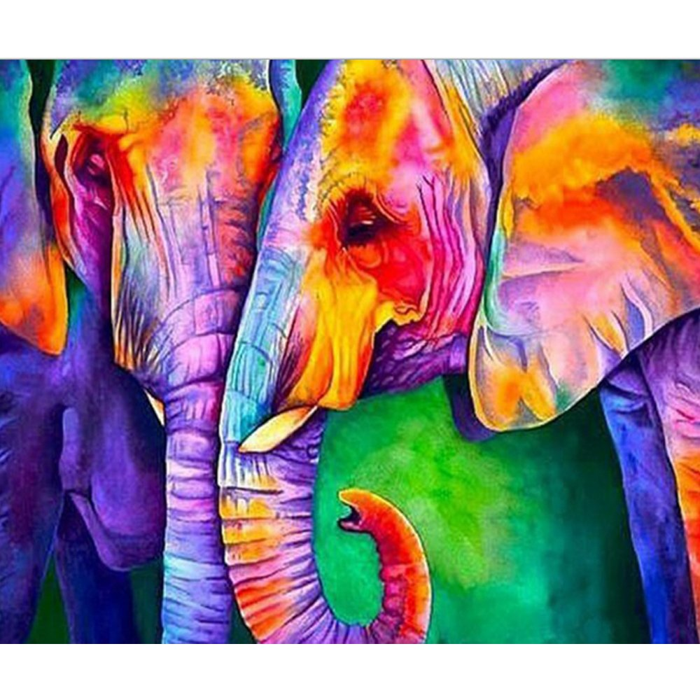 SWEETHOMEDECO 5D Diamond Painting, DIY Full Drill Kits, Elephant Painting, Rhinestone Art, Cross Stitch Painting for Adults and Children