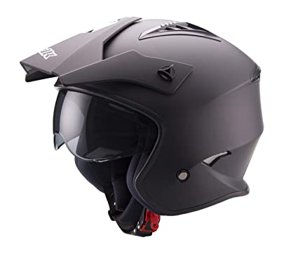 Unik - Casco JET Trial CT-07 (XL, Negro Mate)