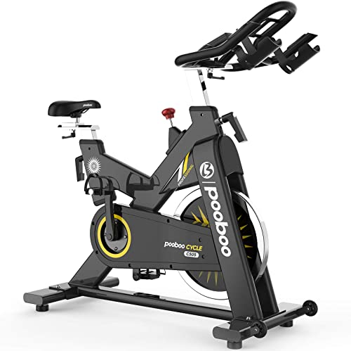 pooboo Commercial Exercise Bikes Heavy-Duty Belt Drive Indoor Cycling Bike Gym Stationary Bike
