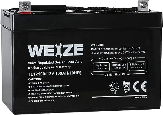 Weize 12V 100AH Deep Cycle AGM SLA VRLA Battery
