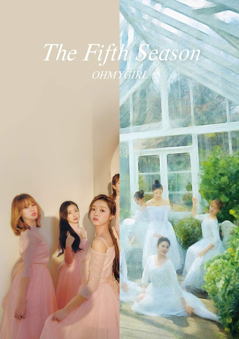 KPOP Oh My Girl - 1st Regular Album, The Fifth Season, Drawing + Photography Cover all versions Set, 2CD + 2Photobooks + Photocards + 2Museum Tickets + 2POP-UP Cards + 2Folded Posters by WM Ent