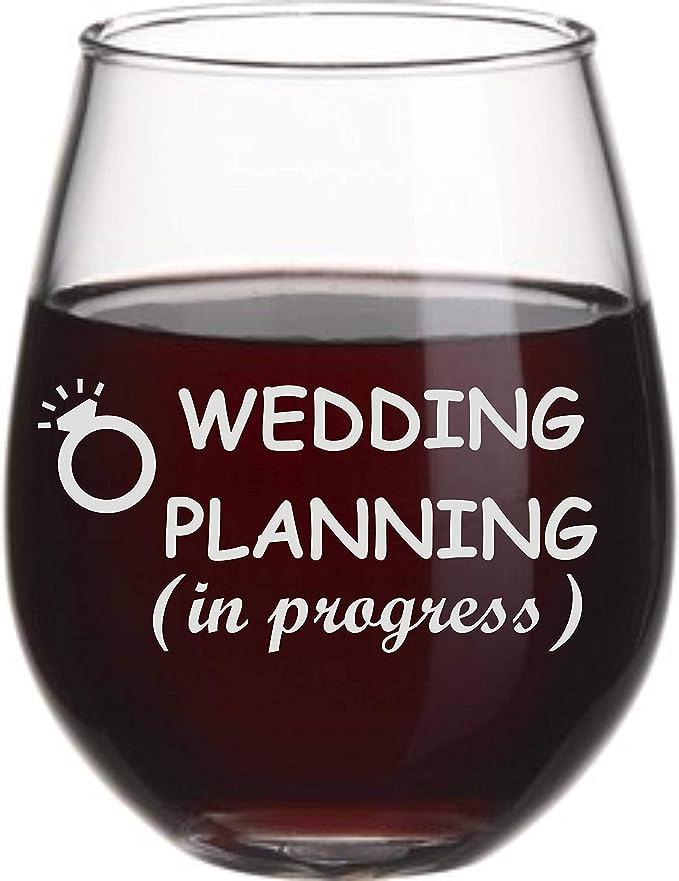 Bride to be Wine Glass Engagement Glass bridal shower gift fianc\u00e9e gift engagement gift future Mrs wine glass engagement wine glass