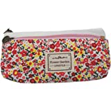 Artone Elegant Pastorable Fleurs Floral Toile Crayon Trousses Papeterie Pounch Cosmétique Sac White