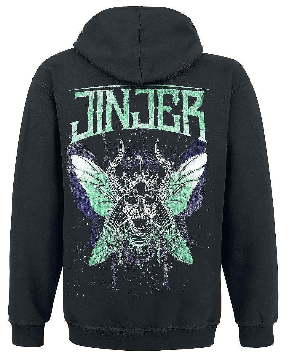 Butterfly Skull Kapuzenjacke zipped Hoodie JINJER
