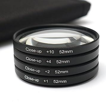 ILS - Kit de Lente de 52 mm para cámara réflex Digital DSLR + 1 + ...