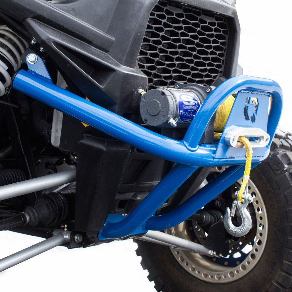 HMF IQ U4 Winch Front Bumper Polaris RZR 9355012664 Blue