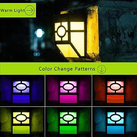 Henze - Lámpara de Pared LED con energía Solar y 2 Modos de ...