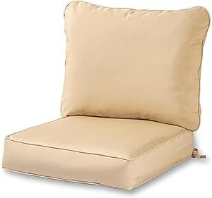 Greendale Home Fashions AZ7820-STONE Sanddollar Outdoor 2-Piece Deep Seat Cushion Set