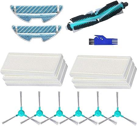 MTKD® Kit Accesorios para Aspiradora Robot Cecotec Conga Excellence 1290 y 1390 - Cepillo Central, Cepillos Laterales, Filtros EPA y Mopas.: Amazon.es: Hogar