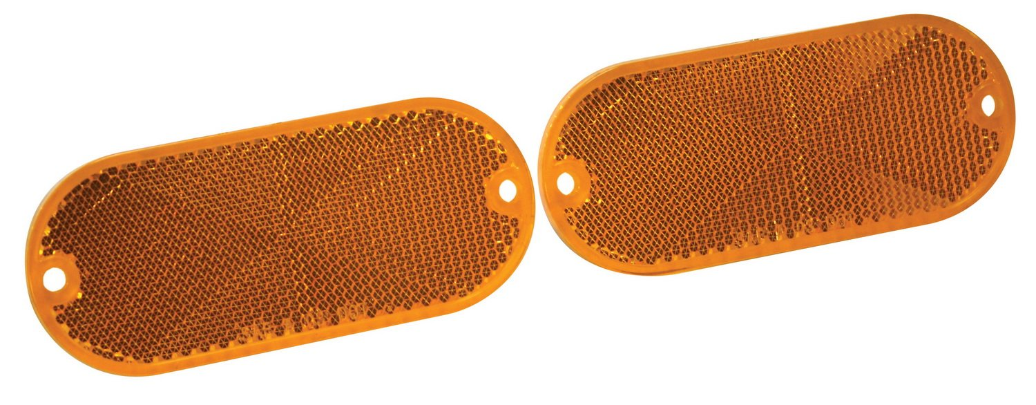 Reese Towpower 73819 Amber Quick Mount Reflector 2 Pack