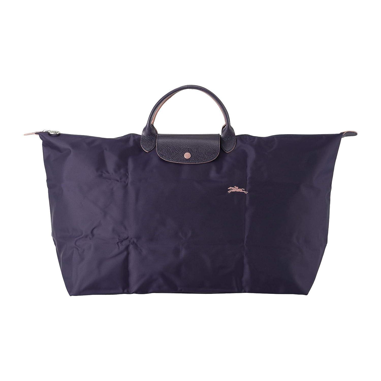 ロンシャン(LONGCHAMP) ボストンバッグ 1625 619 645 ルプリアージュ クラブ ブルーベリー/ピンク [並行輸入品] B07QF5N9TR