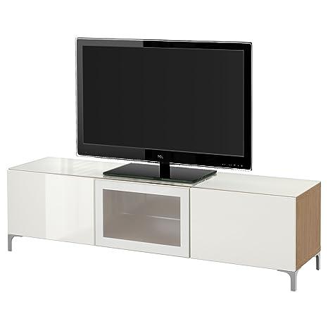 Mobile Porta Tv Vetro Ikea.Zigzag Trading Ltd Ikea Besta Mobile Porta Tv Con Ante