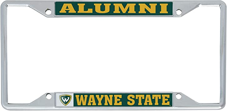 Desert Cactus Wayne State University WSU Warriors NCAA Metal License Plate Frame for Front Back of Car Officially Licensed Alumni
