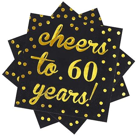 Elcoho - Servilletas de cóctel para 60 cumpleaños ...