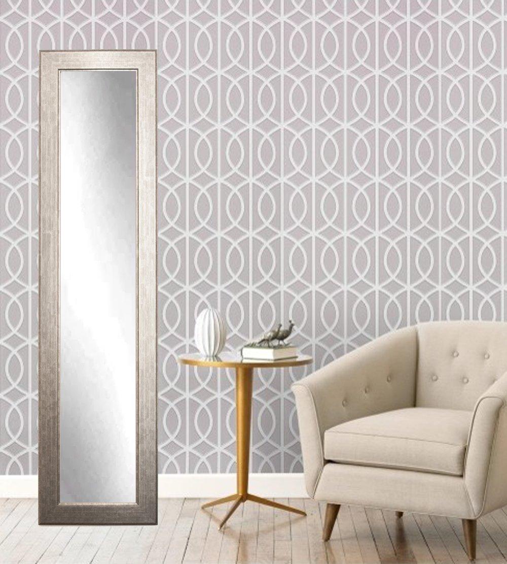 16 x 71, BrandtWorks BM14SKINNY Subway Silver Full Length Mirror