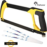 Pruning Saws Pathonor Premium Folding Hand Saw Triple Cut Ultimate Sharp 65MN Blades Best Garden Saw, Tree Pruning ,Rugged Durable Trimmer for Tree Comfort Soft Grip Locked Design for Camping, Hunting, Survival Gear