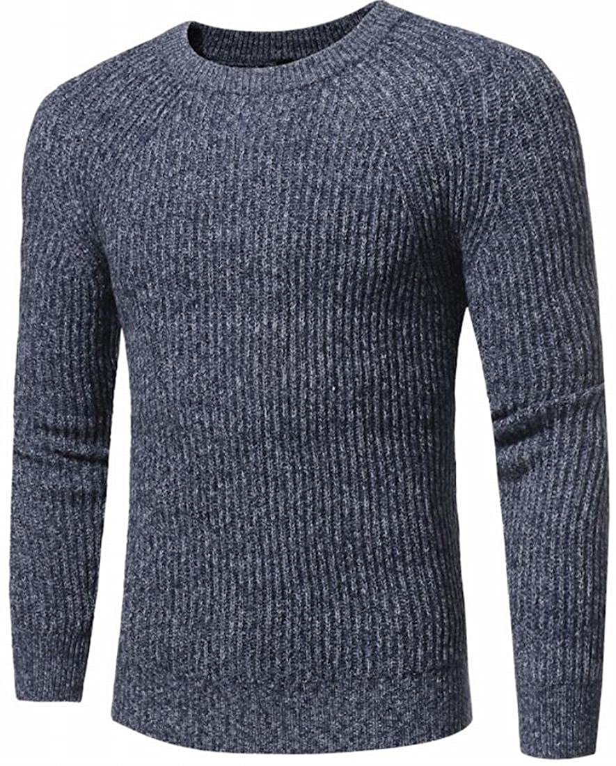 CBTLVSN Mens Crew-Neck Comfy Long Sleeve Knitwear Pullovers Sweater