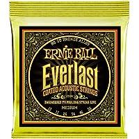 Ernie Ball P02554 Everlast Medium Coated 80/20 Bronze Acoustic Guitar String, 13-56 Gauge, Medium