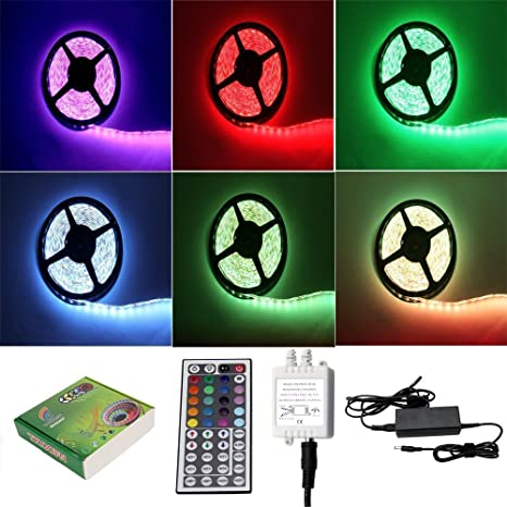 Besdata 164ft 5m waterproof rope lights 300 led 5050 smd color besdata 164ft 5m waterproof rope lights 300 led 5050 smd color changing rgb flexible led aloadofball Image collections