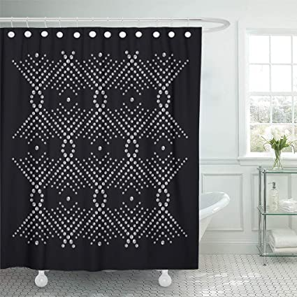 Emvency Shower Curtain Rhinestone Applique In Luxury Crystal Studs Embellishment With Brilliants For Jewelry Embroidery