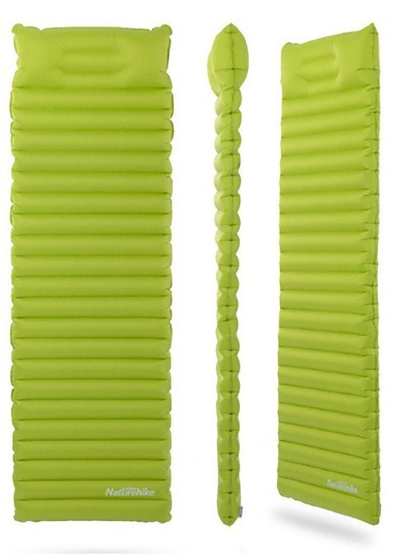 Naturehike マットレス スーパー光 インフレータブル 高速充填 エアバッグ 枕革新的な睡眠パッド NH16D003-D B07F2ZG4RT  Green