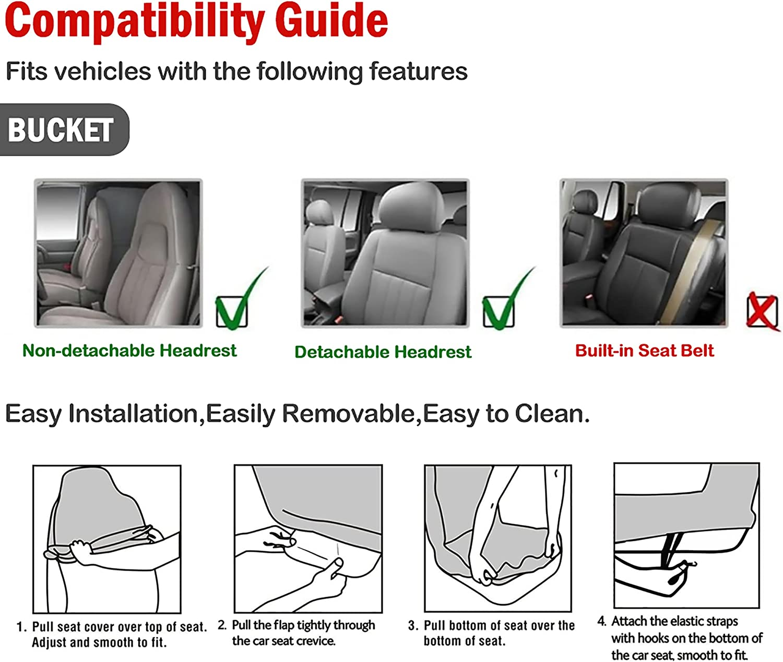Sourcing Map Universal Vorder Bucket Sattel Sitzbezug Abdeckung Sitzauflagen Autositzbezug Schonbezug Für Auto Suv Auto