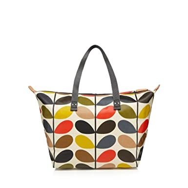 47bee7c56 Orla Kiely Multi-Coloured 'Multi Stem' Print Shopper Bag: Orla Kiely:  Amazon.co.uk: Clothing