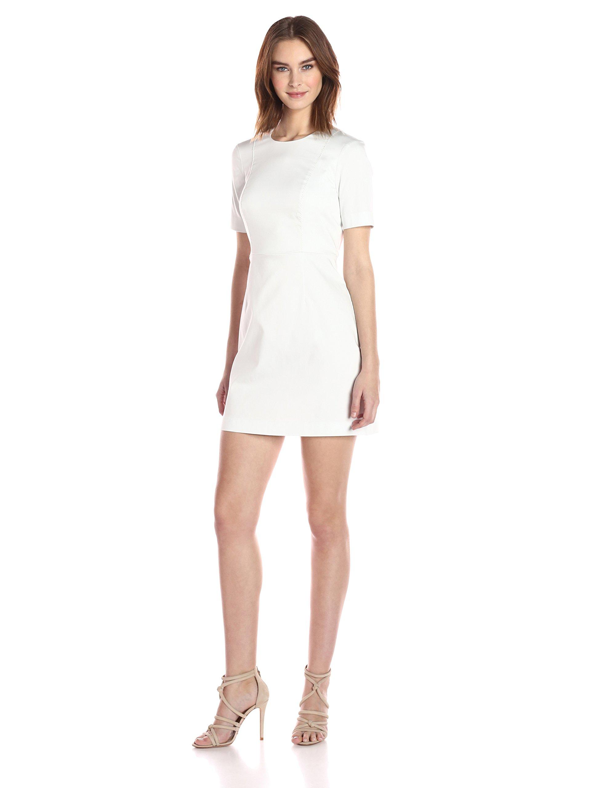 French Connection Women's Modern Kantha Cotton Dress, Summer White, 6