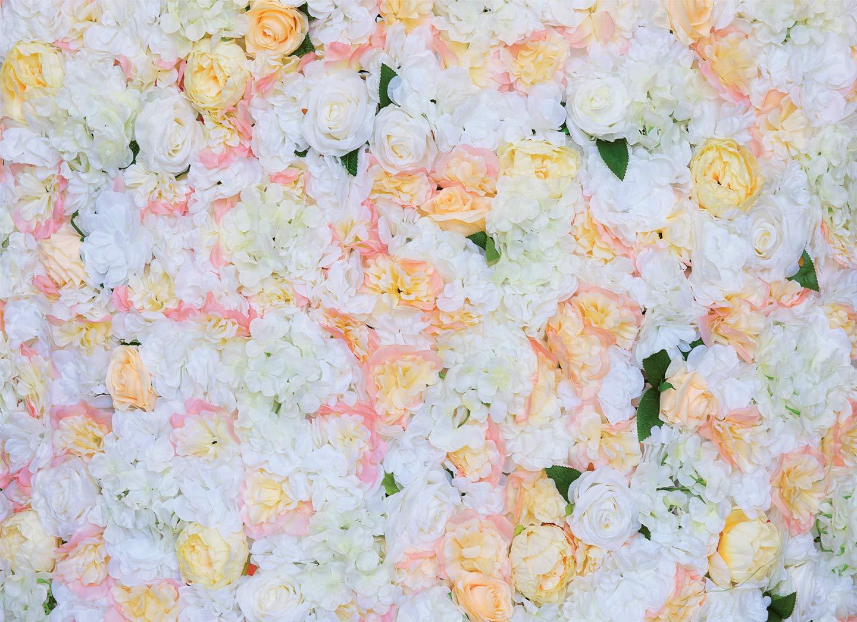 48インチ x 96インチ 人工シルク バラの花 壁の背景 結婚式 パーティー 装飾 B07H9GR7W6