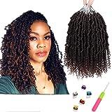 Bomb Twist Crochet Hair 6 Packs 10inch Spring Twist Crochet Braids Pretwisted Passion Twist Hair Pre looped Crochet Hair…