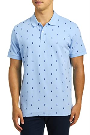 dockers Hombres Cuello Amplio Manga Corta Camisa Polo - Azul ...