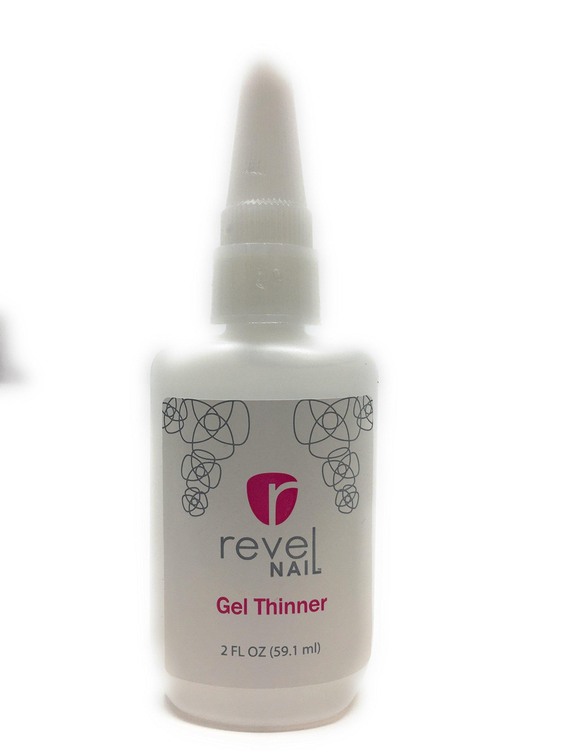 Revel Nail Gel Thinner for Dipping Liquid 2 oz by Revel