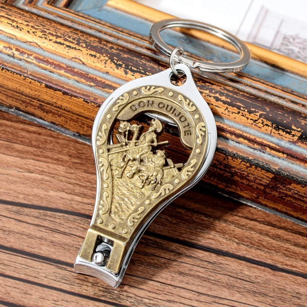 España Don Quijote Llavero Vintage Estilo Nail Clipper Cortador Llavero para Hombres Mujeres España Viaje Recuerdo Llaves Titular: Amazon.es: Juguetes y juegos