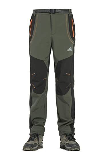 2782dea1a Rainbow Cloud Men's Waterproof Outdoor Pants Soft Shell Snow Ski Pants Warm  Trousers